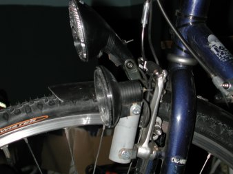 Front view of the tandem
